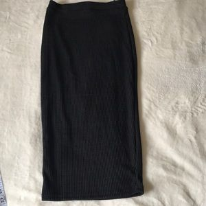 Pencil Black Sweater Stretchy Skirt